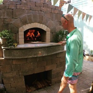 Clients enjoying their pizza oven